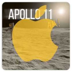 Click to download the free Apollo 11 AR app from the Apple iOS App Store